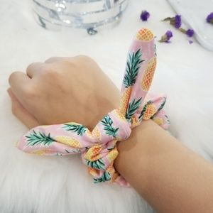 Baby pink pineapple scrunchie